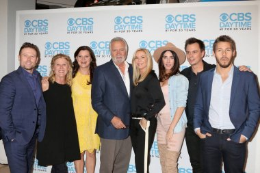 Michael Logan, Staff, Jacob Young, Alley Mills, Heather Tom, Angelica McDaniel, John McCook, Katherine Kelly Lang, Bradley Bell, Jacqueline MacInnes Wood, Darin Brooks, Scott Clifton