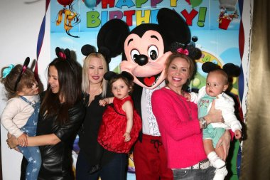 Phoenix Emmanuel Sursok-McEwan, Tammin Sursok, Amelie Bailey, Adrienne Frantz Bailey, Mickey Mouse Character, Virginia Williams, Ford Bricken