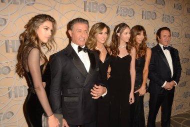 Sylvester Stallone, daughters, Jennifer Flavin, Frank Stallone