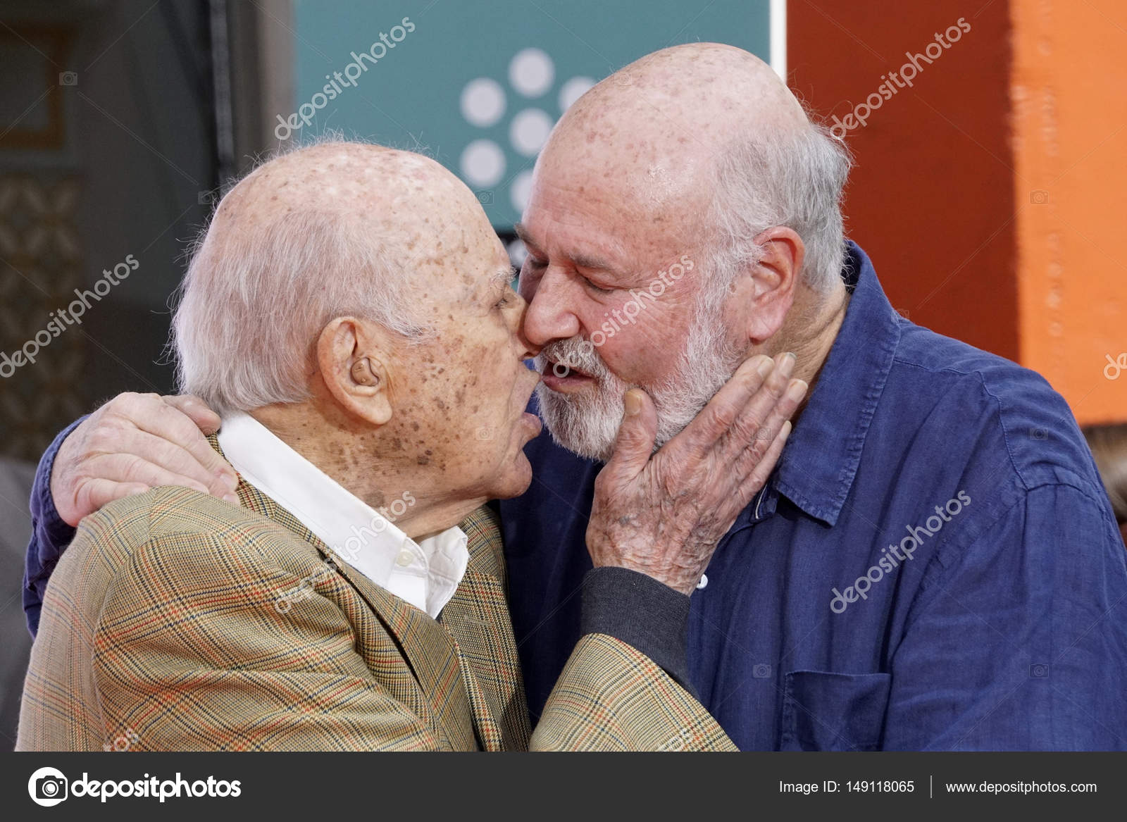 actors carl and rob reiner stock editorial photo jean nelson