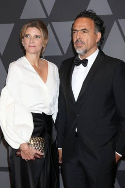 Director Alejandro Gonzalez Inarritu and Maria Eladia Hagerman at the AMPAS 9th Annual Governors Awards at Dolby Ballroom in Los Angeles, CA