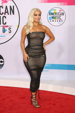 Singer Bebe Rexha at the American Music Awards 2017 at Microsoft Theater in Los Angeles, CA