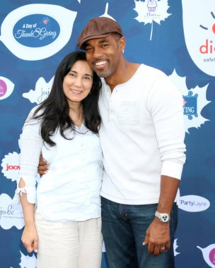 Author Vandana Khanna and actor Jason George at the Diono Presents A Day of Thanks & Giving at Garland Hotel in North Hollywood, CA