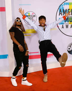 Swae Lee and Slim Jxmmi of Rae Sremmurd at the American Music Awards 2017 at Microsoft Theater in Los Angeles, CA
