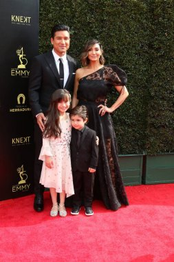 LOS ANGELES - APR 29:  Mario Lopez, Courtney Laine Mazza Lopez, Gia Francesca Lopez, Dominic Lopez at the 45th Daytime Emmy Awards at the Pasadena Civic Auditorium on April 29, 2018 in Pasadena, CA