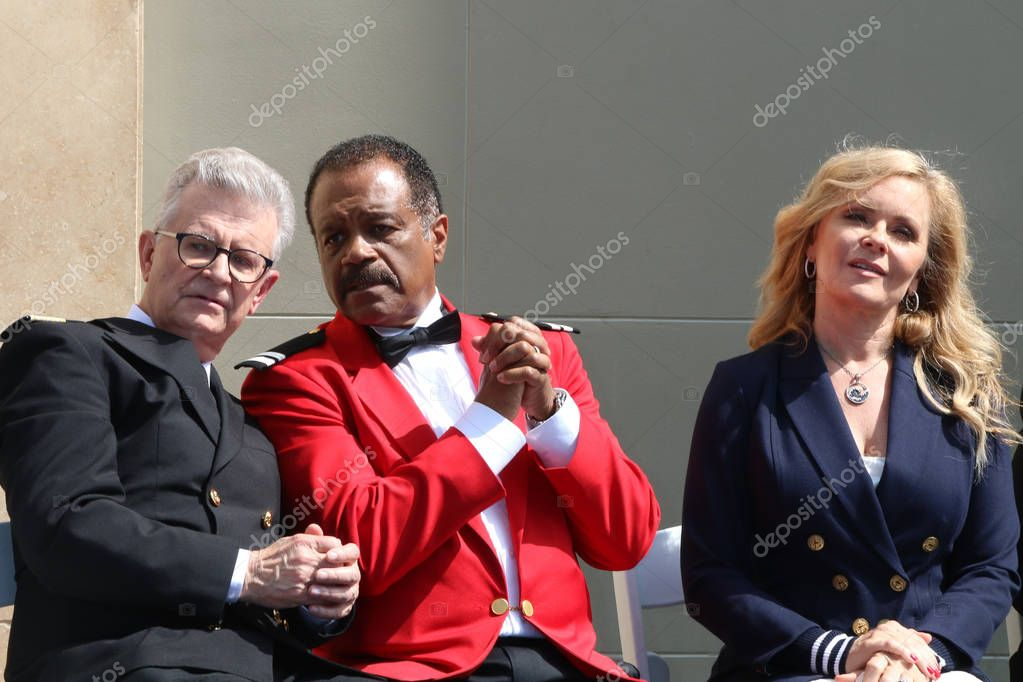 LOS ANGELES - MAY 10:  Fred Grandy, Ted Lange, Jill Whelan at the Princess Cruises Receive Honorary Star Plaque as Friend of the Hollywood Walk Of Fame at Dolby Theater on May 10, 2018 in Los Angeles, CA