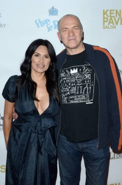 LOS ANGELES - NOV 8:  Matily Moby Arts, Ray Gange at the Pop-Up Art Show by Billy Morrison and Steve Stevens at the Ken Paves Salon on November 8, 2019 in West Hollywood, CA
