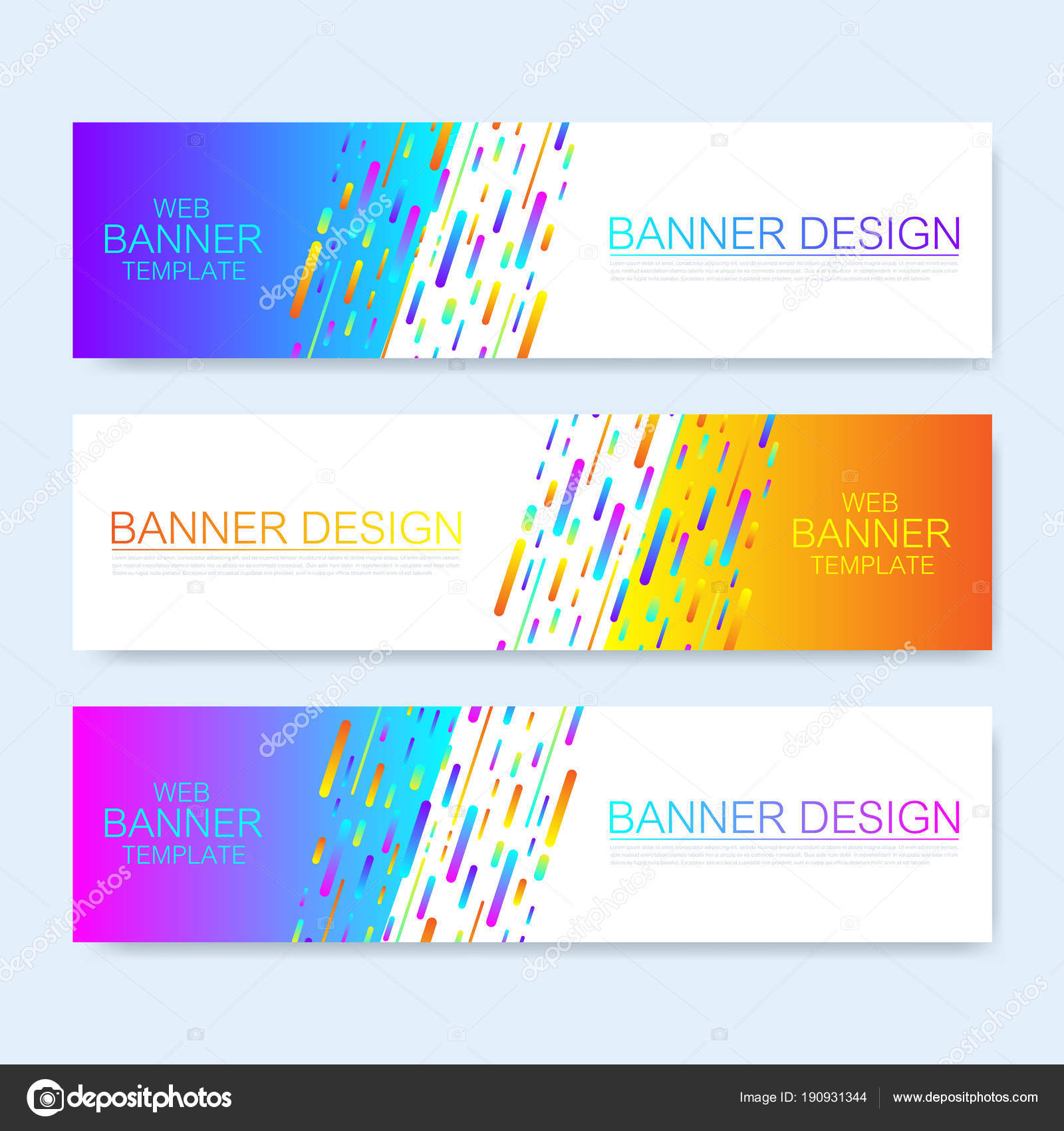 Modern abstract vector web banner template. Colorful Web Design ...