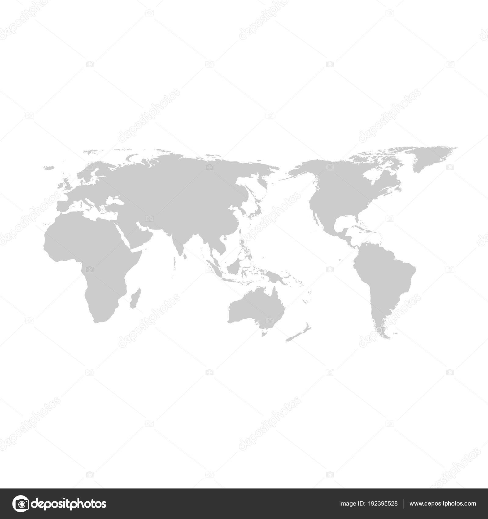 Grey world map vector flat design stock vector techdesign07 grey world map vector flat design stock vector gumiabroncs Images