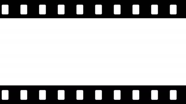 Animace filmové smyčky fotoaparátu na bílém pozadí