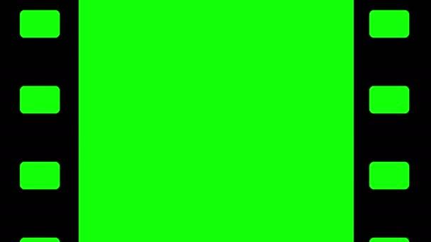 Animace smyčky filmu fotoaparátu na pozadí s klíčem chroma