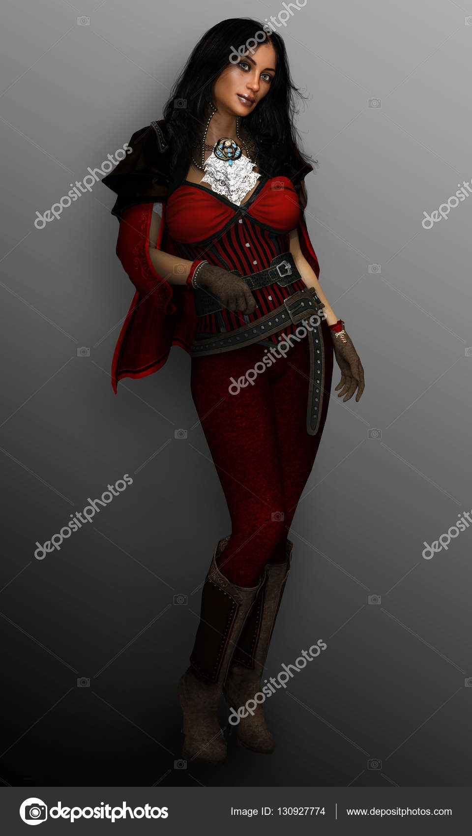 Fantasy pirate woman not torture