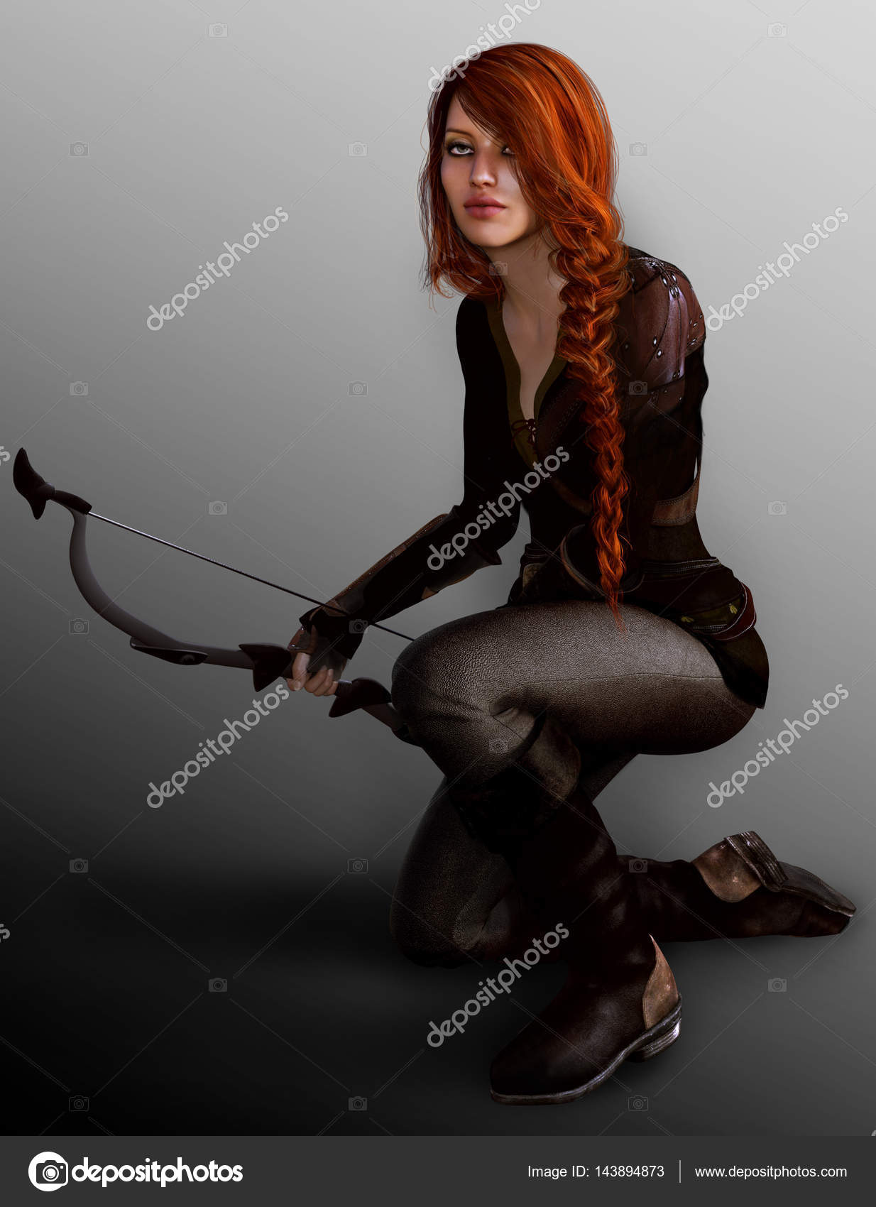 Fantasy female archer good information