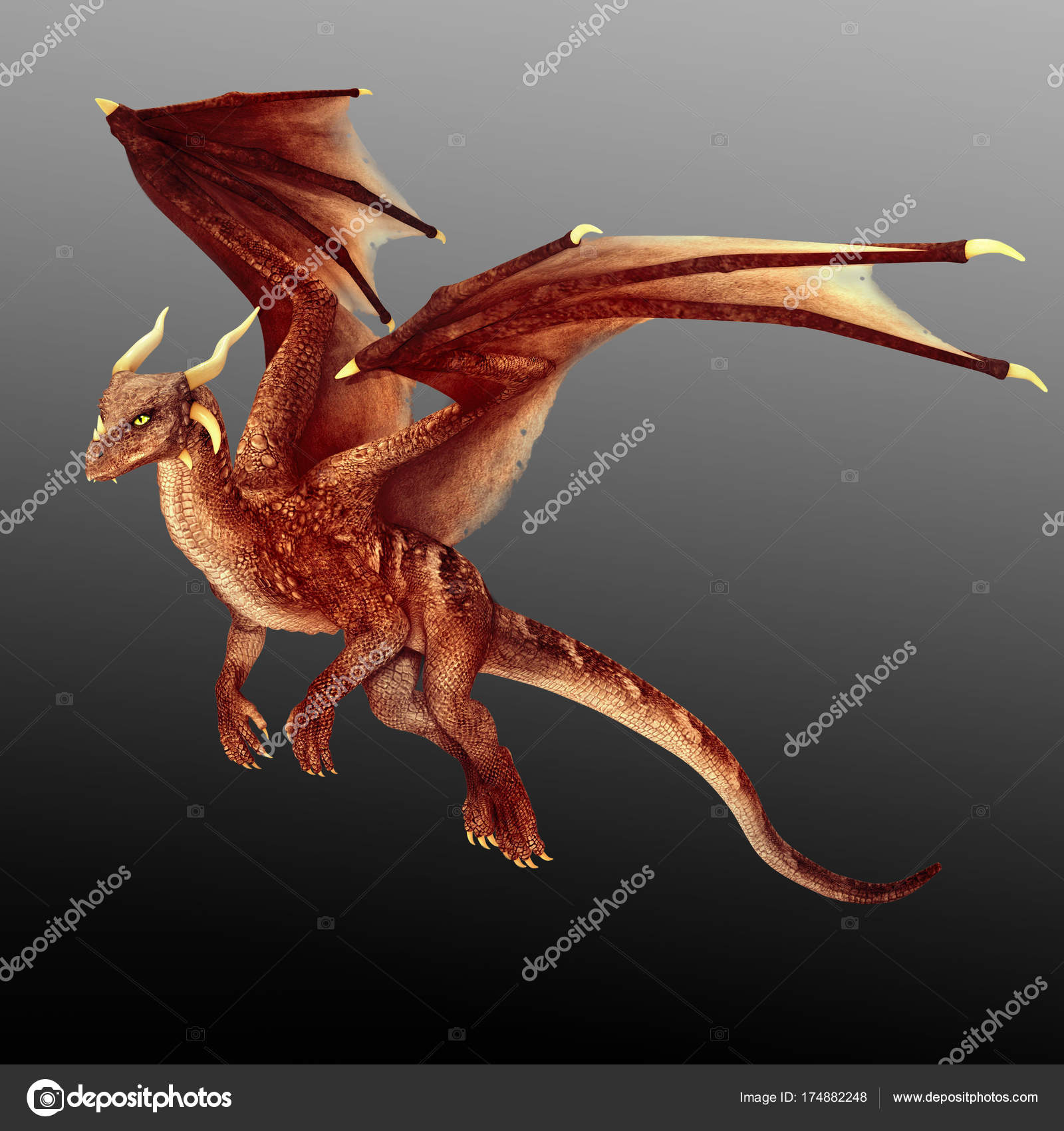flying cgi fantasy dragon wings red � stock photo 169 ravven