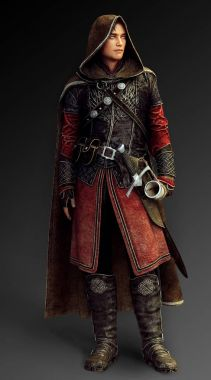 CGI Illustration of Fantasy Male Hunter in Leather Armor with Hood