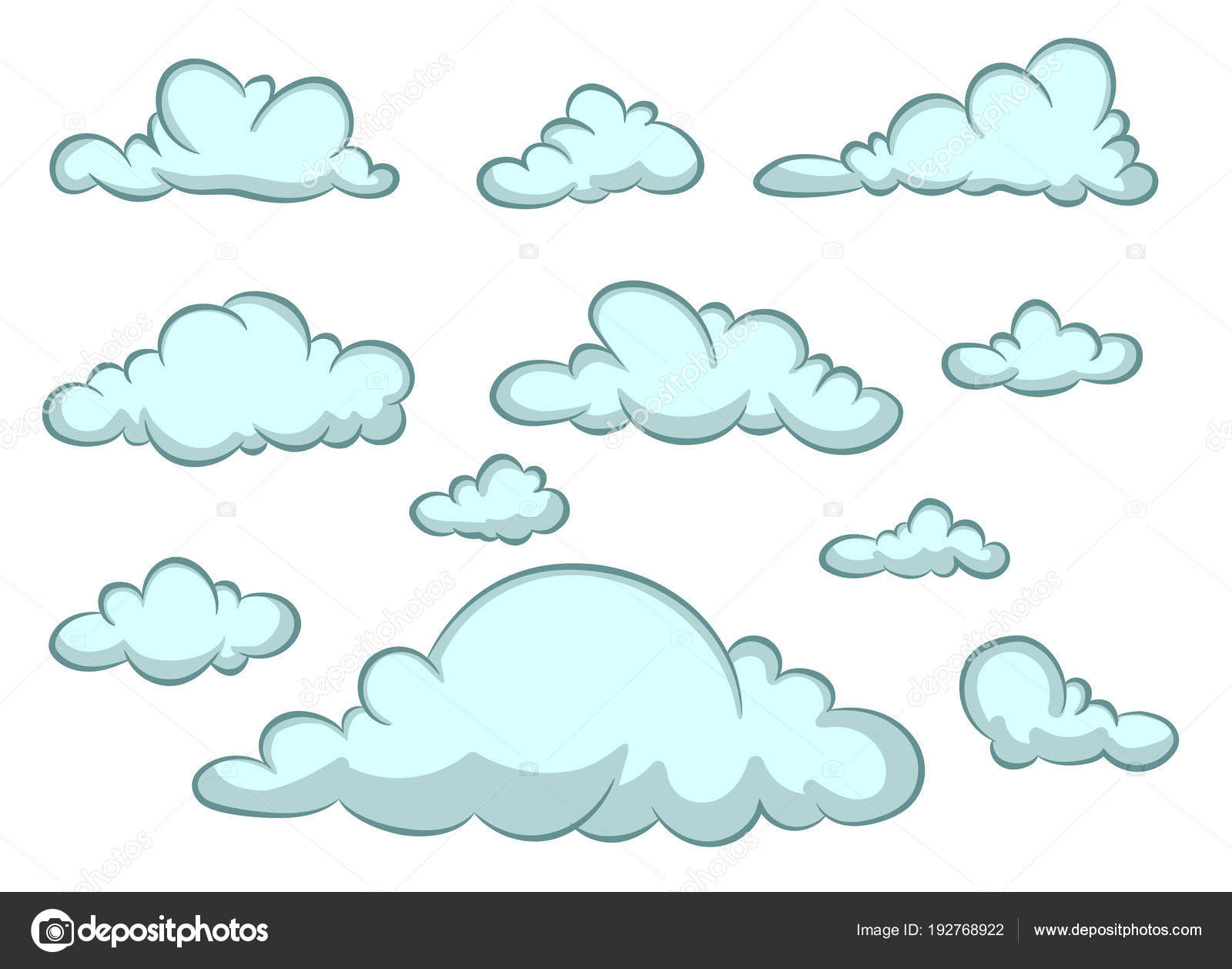 Cartoon Cloud Vector Set Blue Clouds — Stock Vector © King72 #192768922