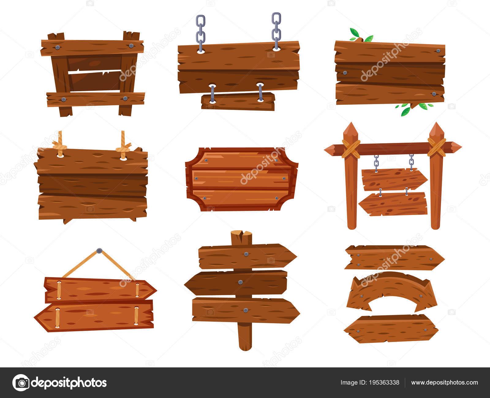 Vaciar tablero madera cartoon vintage o limpiar oeste letrero ...
