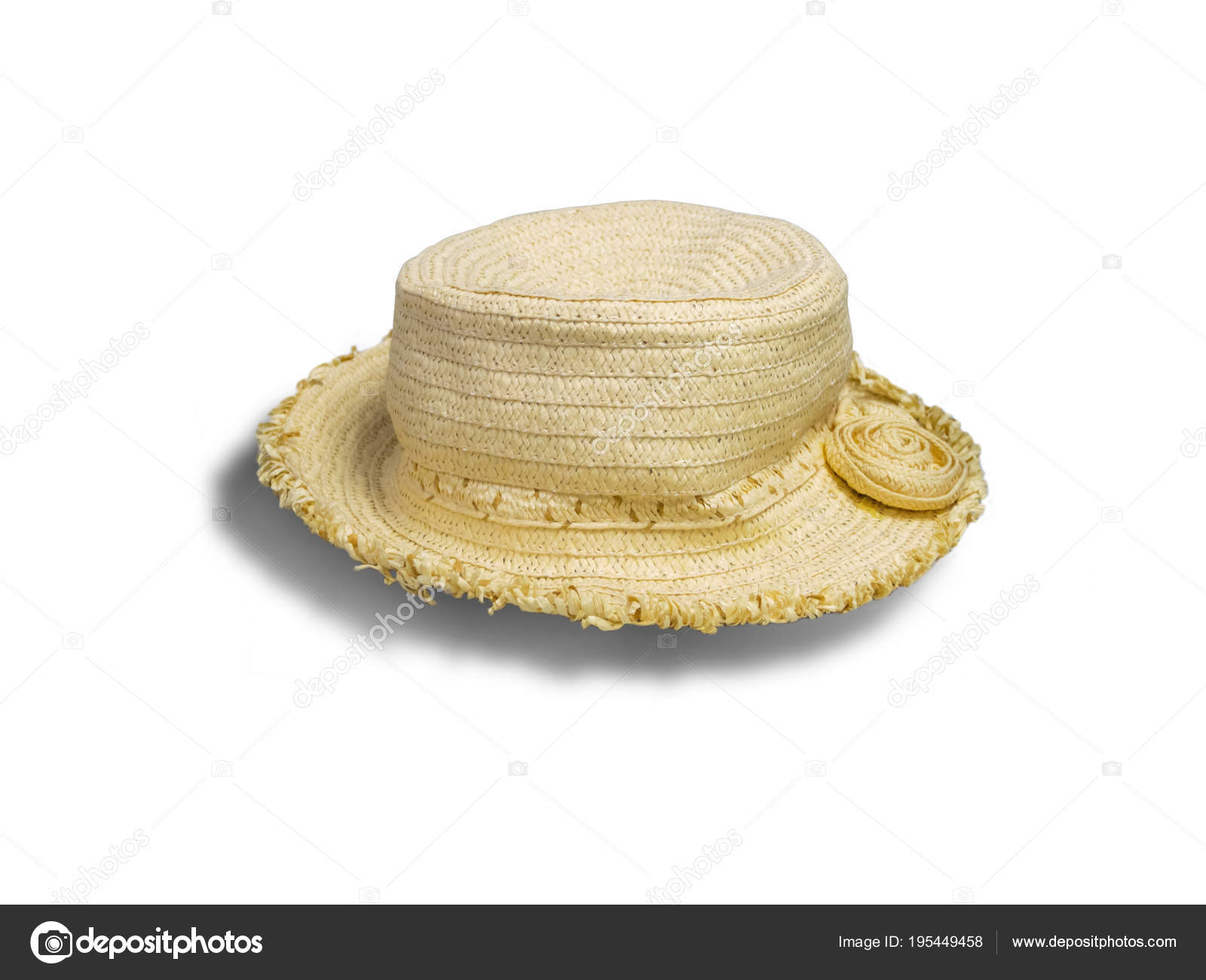 5db6cf34 Woman Hat Clipping Path Isolated White Background Clipping Path — Stock  Photo