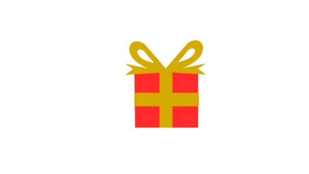Mann schenkt viele Geschenke in verschiedenen Farben