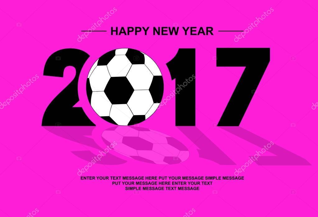 2017 Happy New Year Football Fuschia Stock Vector C Labbelman