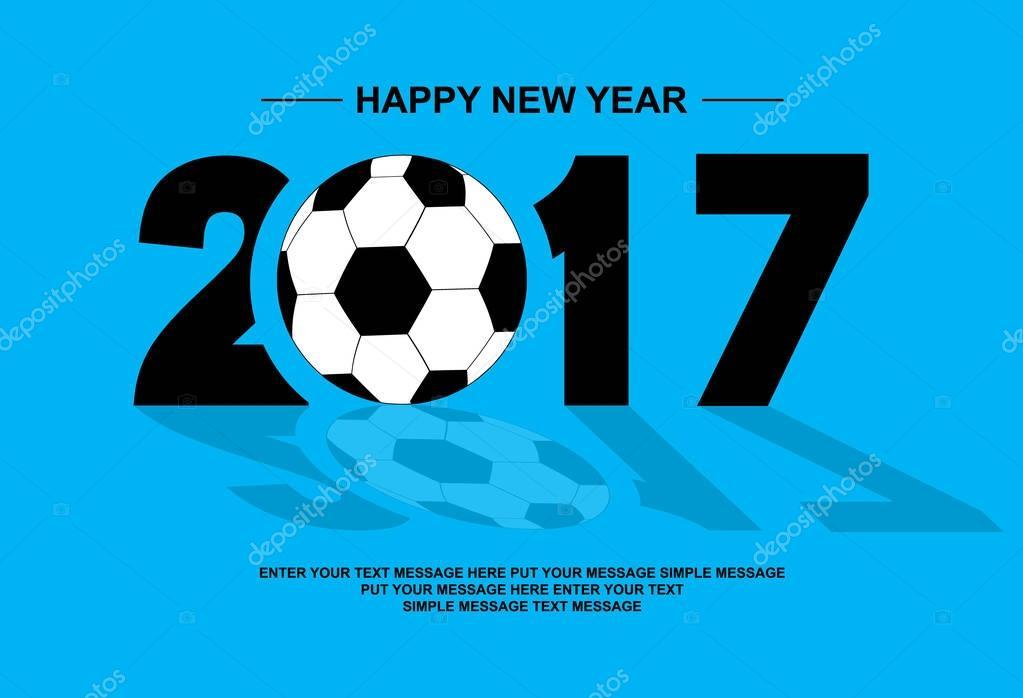 2017 Happy New Year Football Blue Stock Vector C Labbelman 129536848