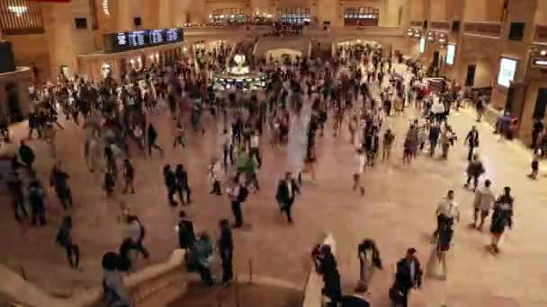 Grand Central Station NYC in fast motion