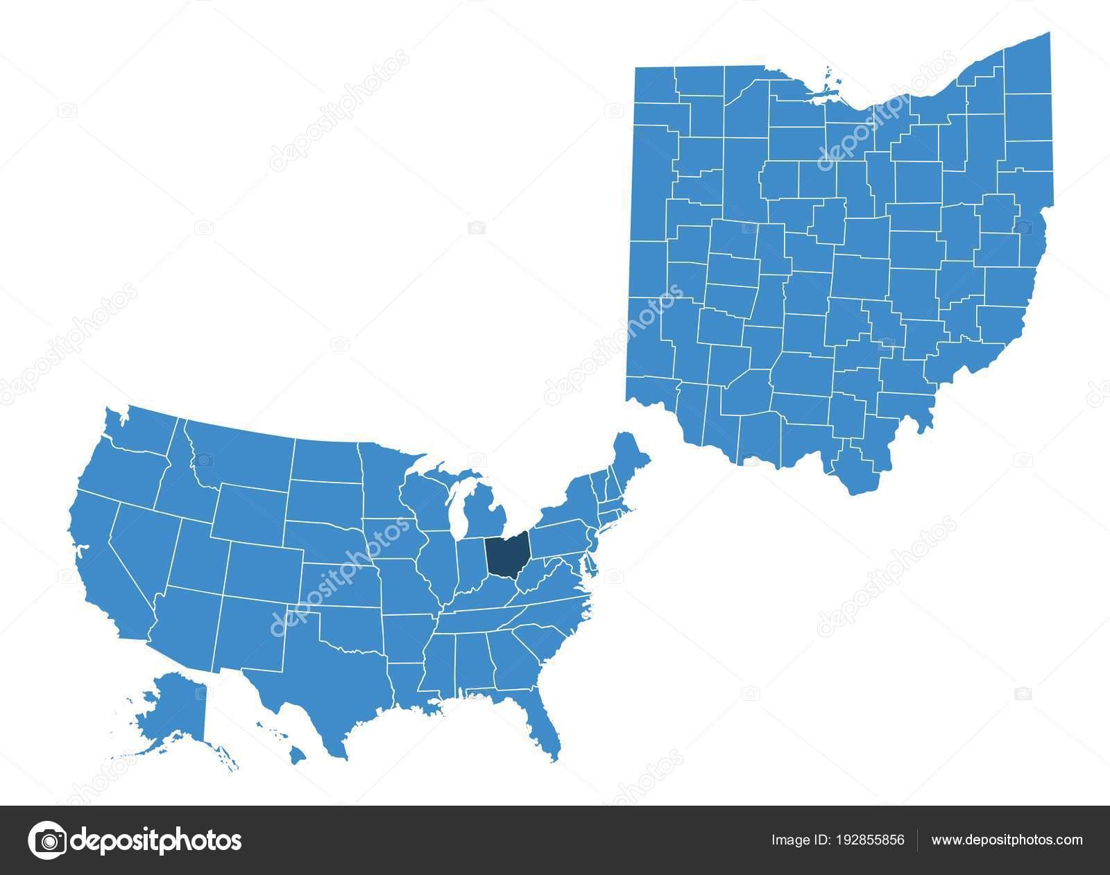 Map Ohio State — Stock Vector © BlackLava36 #192855856