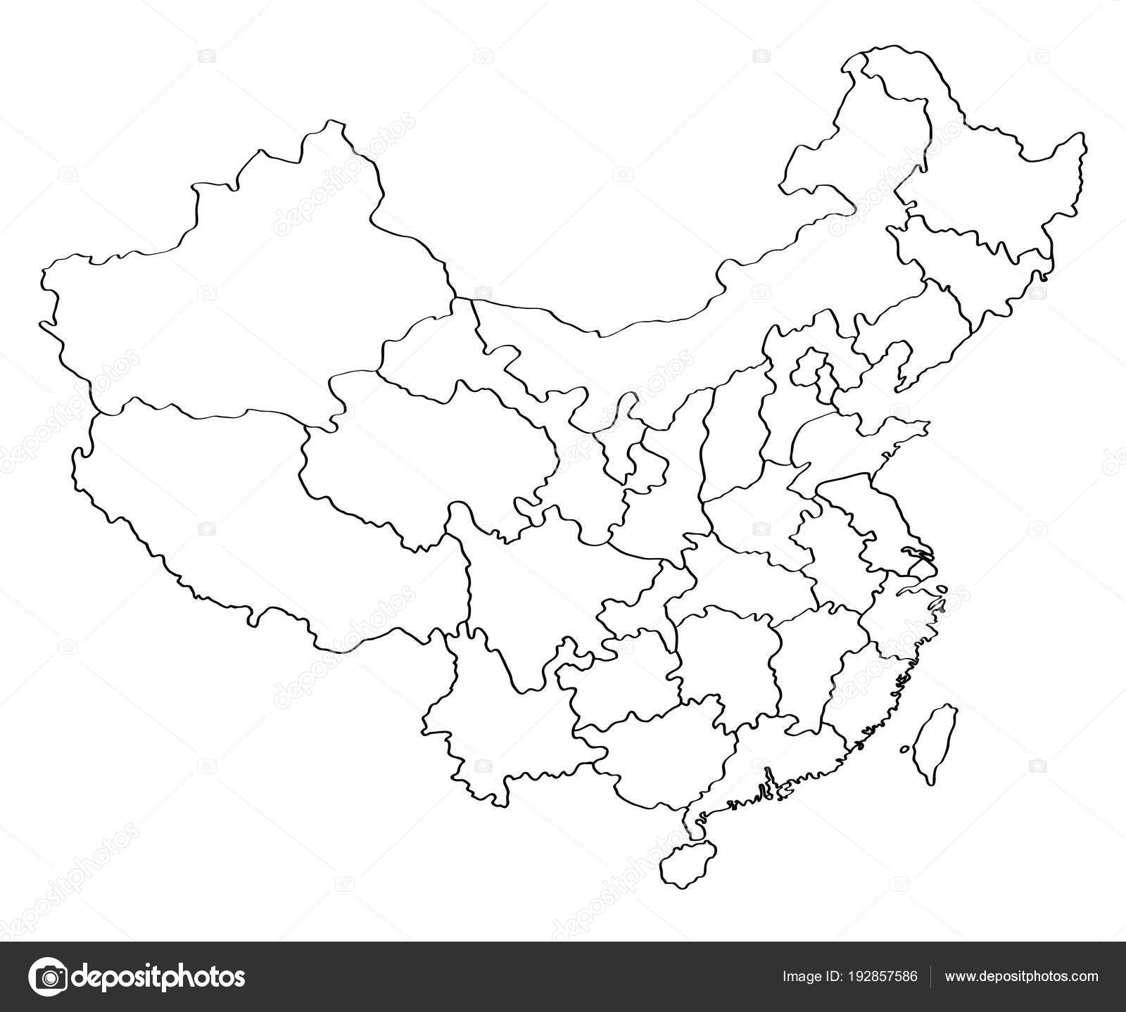 Outline Map China — Stock Vector © BlackLava36 #192857586