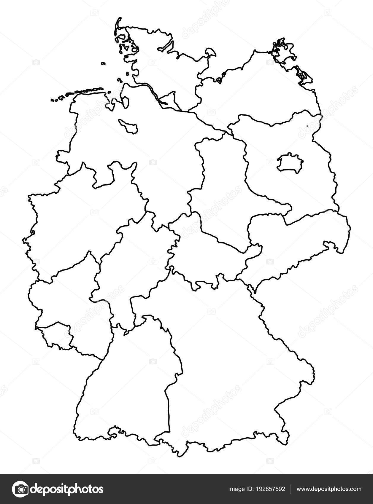 Outline Map Of Germany.Outline Map Germany Stock Vector C Blacklava36 192857592