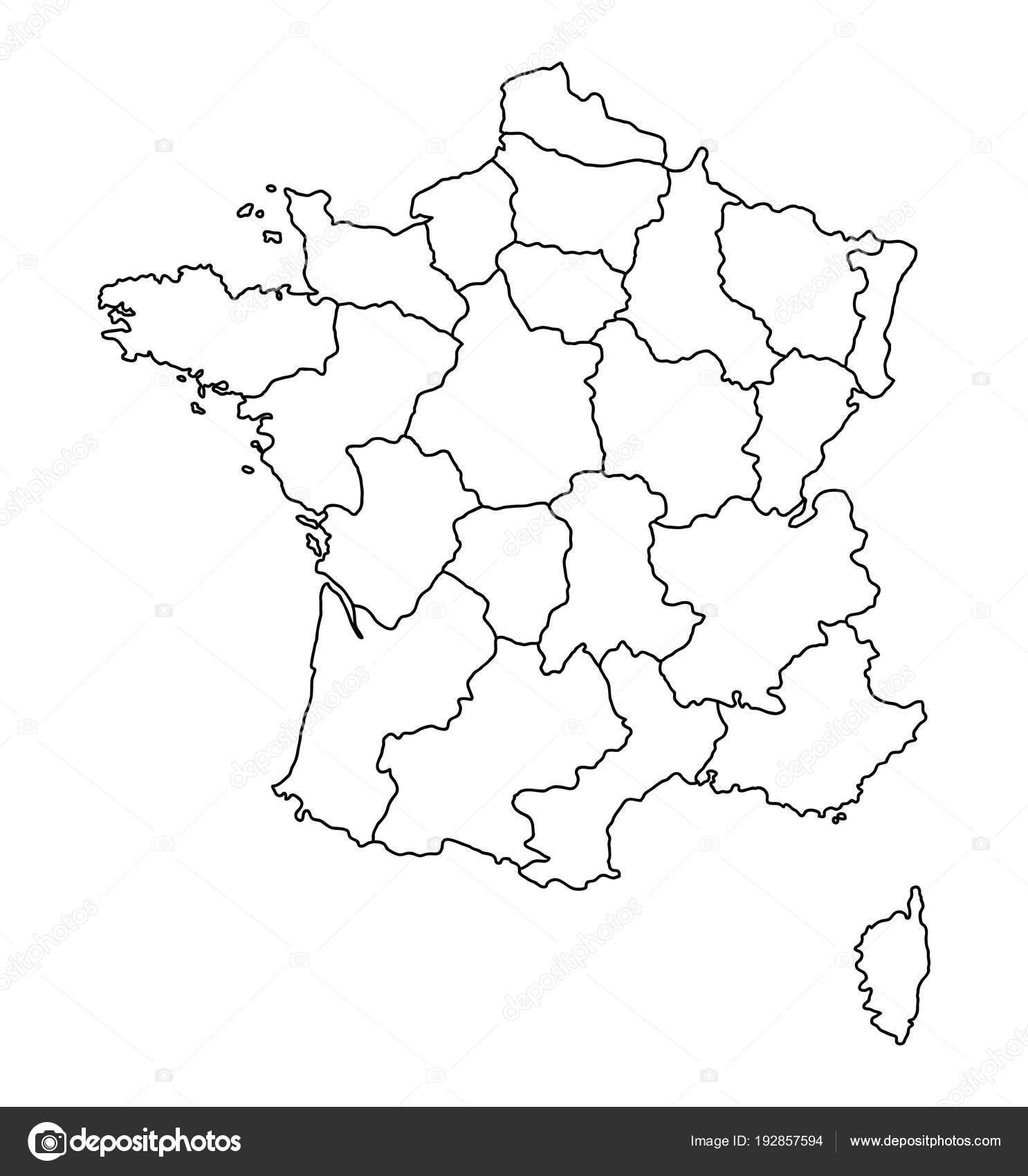 Outline Of Map Of France.Outline Map France Stock Vector C Blacklava36 192857594