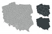 Map of Poland set