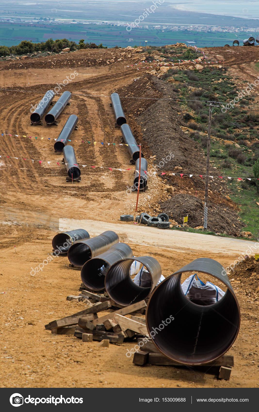 그리스에서 가스 파이프라인 건설. — 스톡 사진 © markara77 #153009688