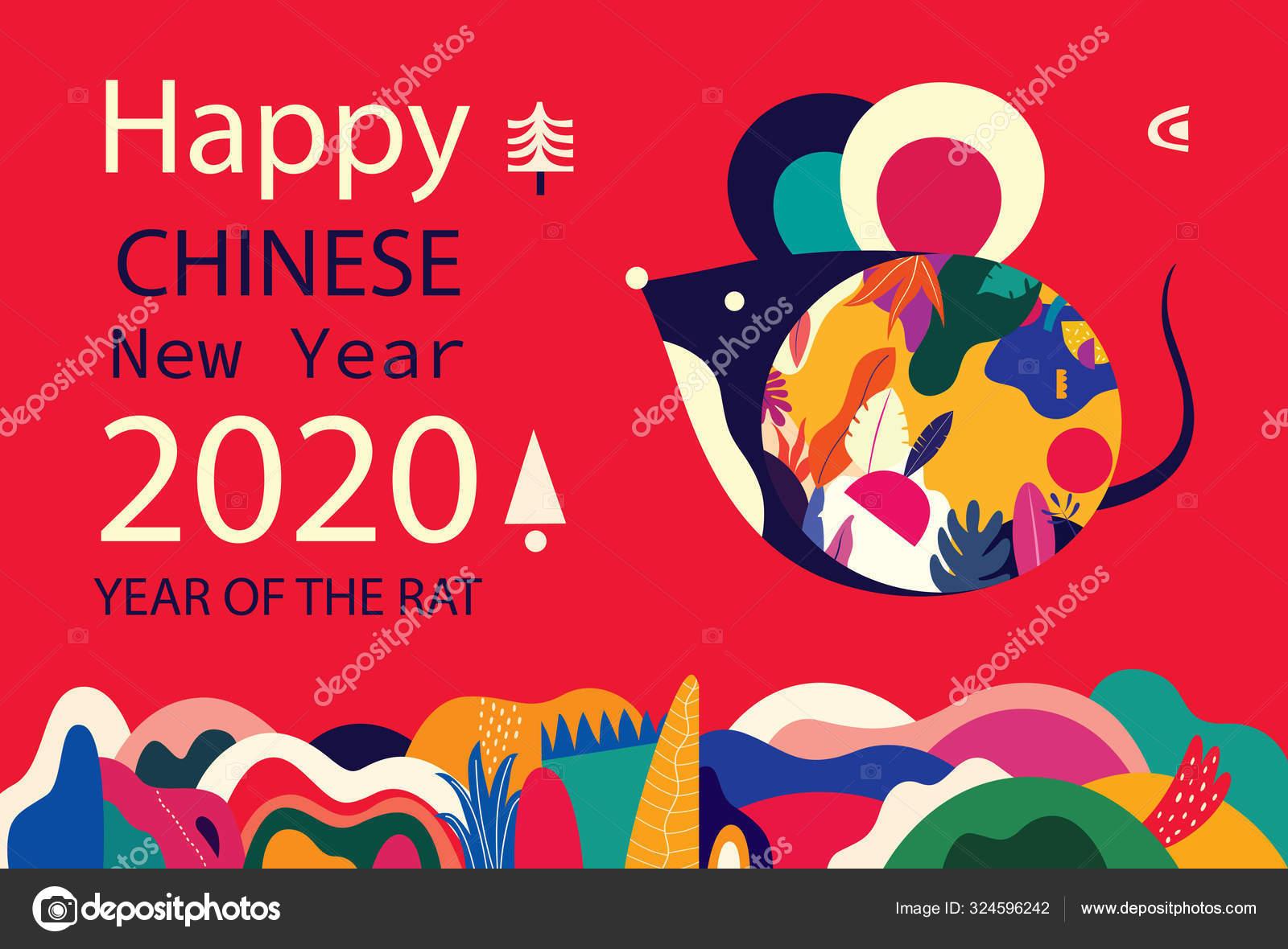Happy New Year 2020 Vector Logo Design Happy New Year Stock Vector C Molesko 324596242