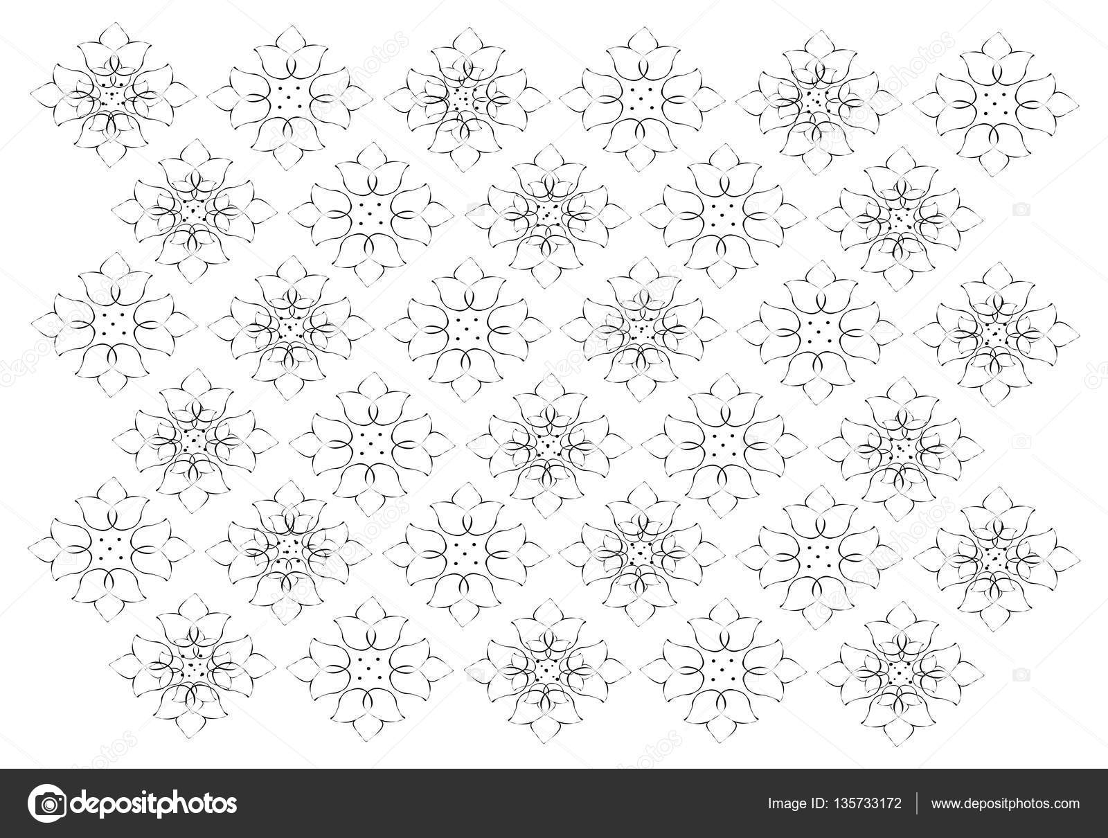 Illustration of beautiful white vintage texture wallpaper background with black floral pattern for add content or picture vector by