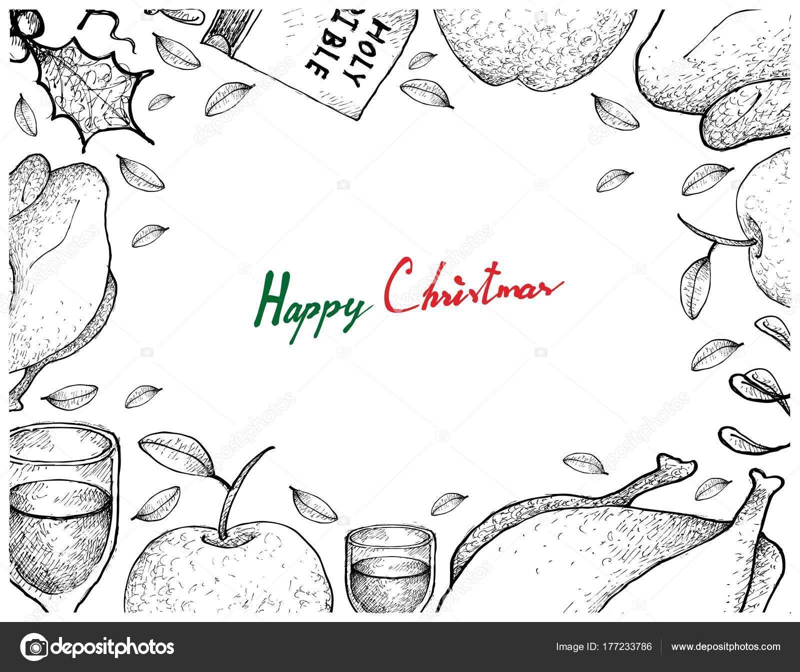 Pavo Navideño Para Colorear Navidad Y Año Nuevo Cena Marco