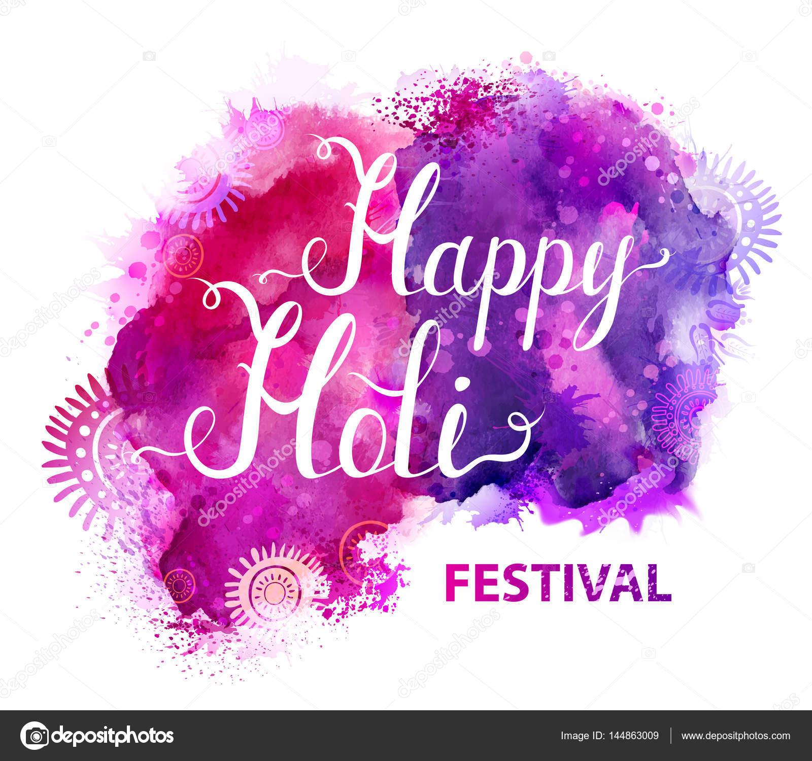 Happy Holi festival bandera — Vector de stock © antart #144863009
