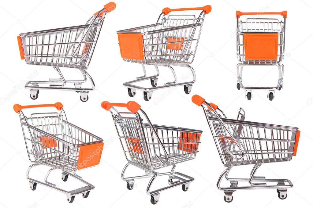 Shopping Trolley Collection on White