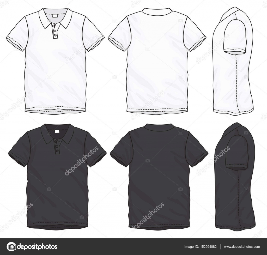 Black White Polo TShirt Design Template Stock Vector Airdone - Cool t shirt design templates
