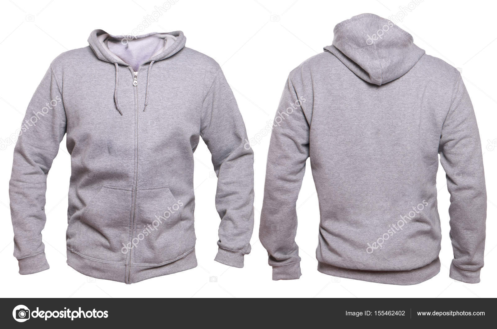 Gray Hoodie Mock-up — Stockfoto © airdone #155462402