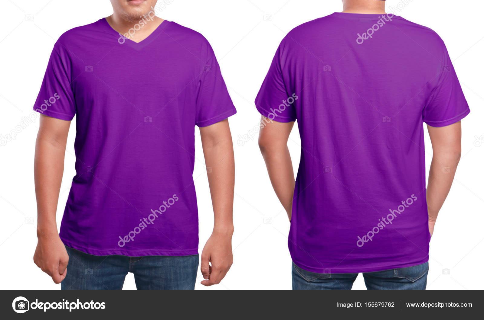 Lila v-Neck-Shirt-Design-Vorlage — Stockfoto © airdone #155679762