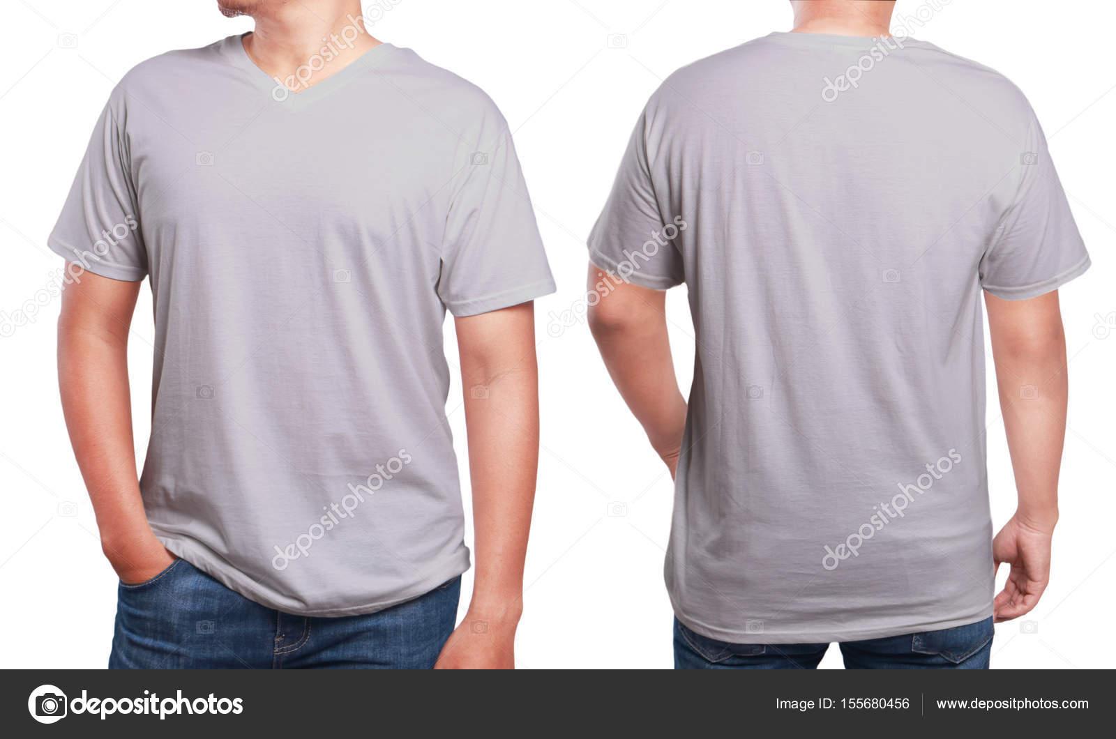 Grau V-Ausschnitt t-shirt-Design-Vorlage — Stockfoto © airdone ...