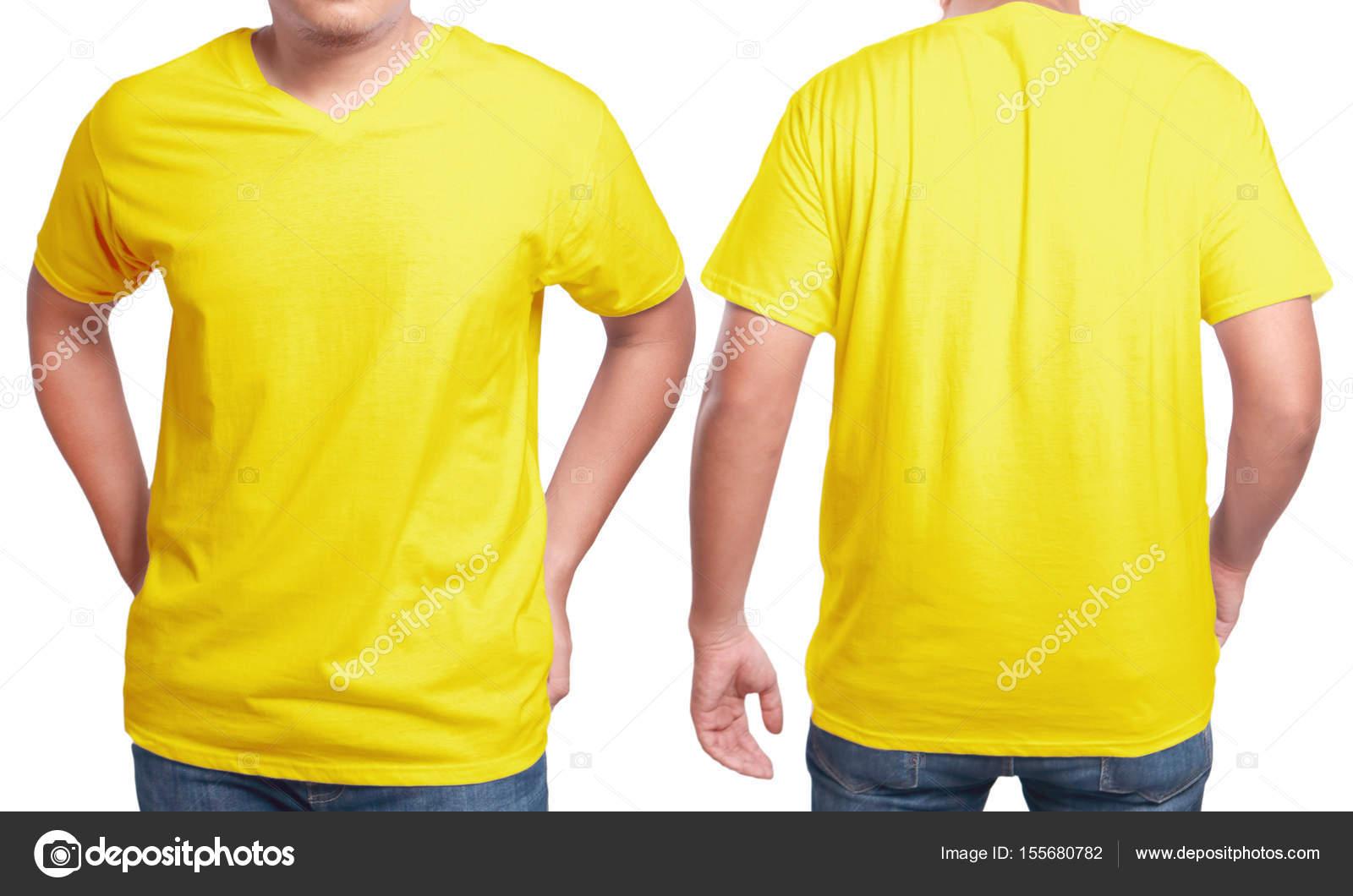 Gelbe v-Neck-Shirt-Design-Vorlage — Stockfoto © airdone #155680782