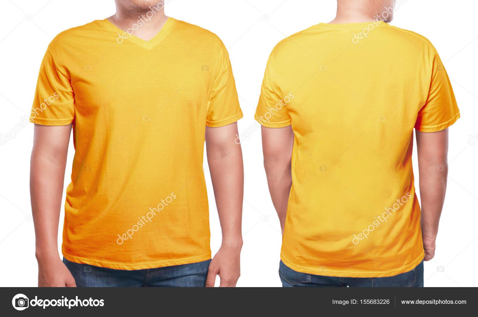 Orange v-Neck-Shirt-Design-Vorlage — Stockfoto © airdone #155683226