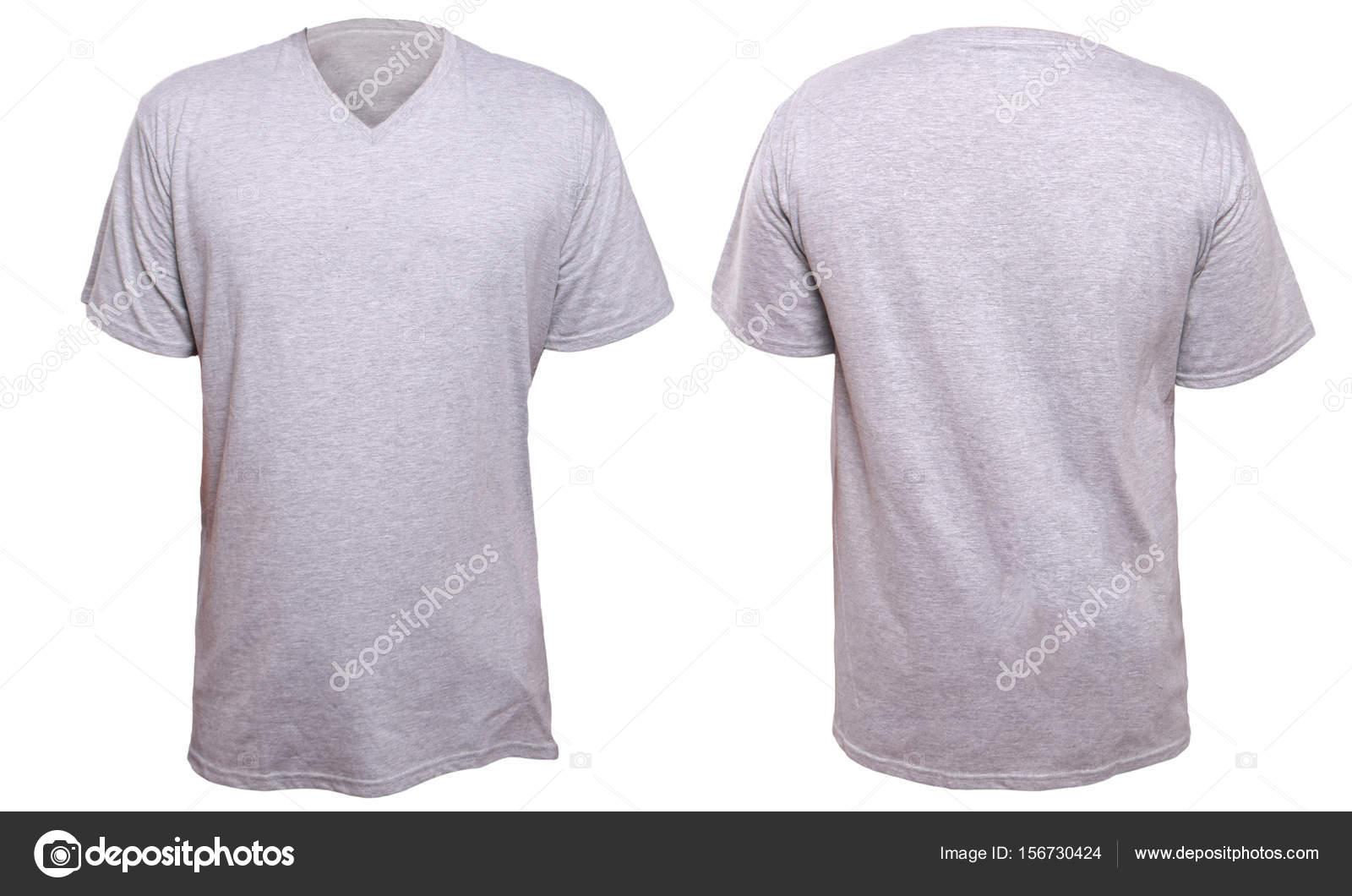 Misty Grey v-Neck-Shirt-Design-Vorlage — Stockfoto © airdone ...