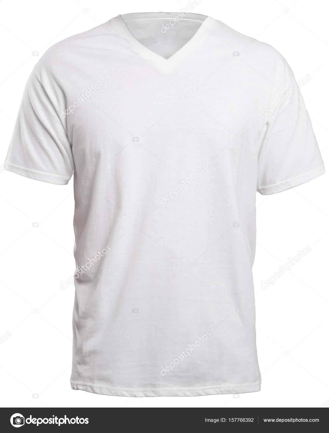 Weiß mit V-Ausschnitt Shirt Mock-up — Stockfoto © airdone #157766392