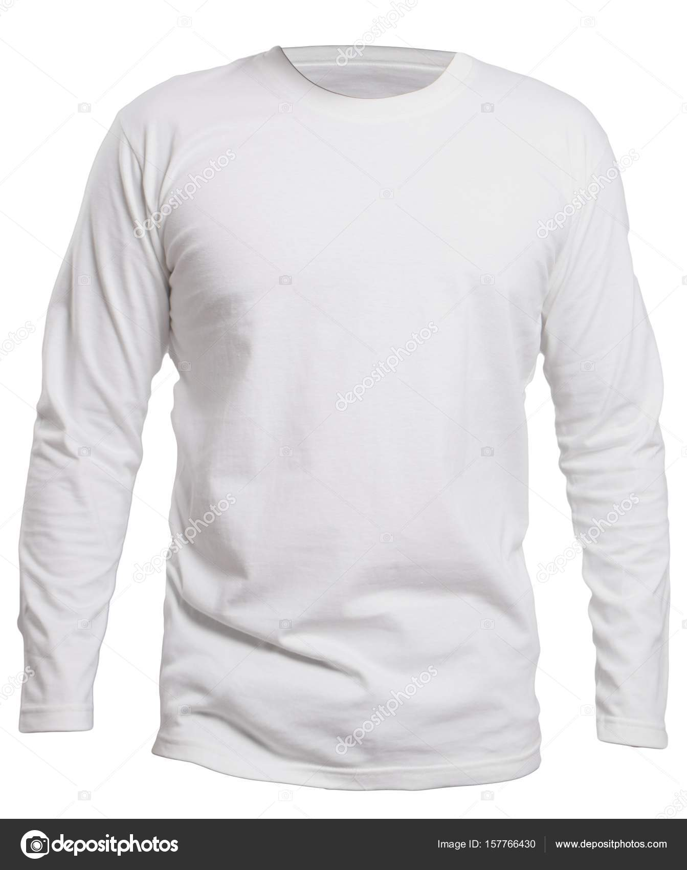 White Long Sleeve Shirt Mock up — Stock Photo © airdone  157766430 71b722bcb89