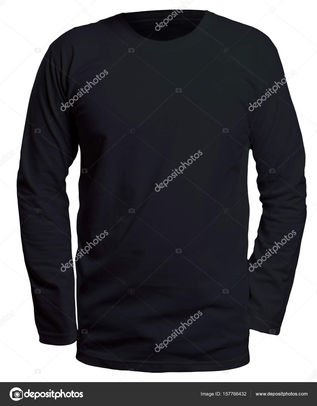 Black Long Sleeve Shirt Mock up — Stock Photo © airdone #157766432