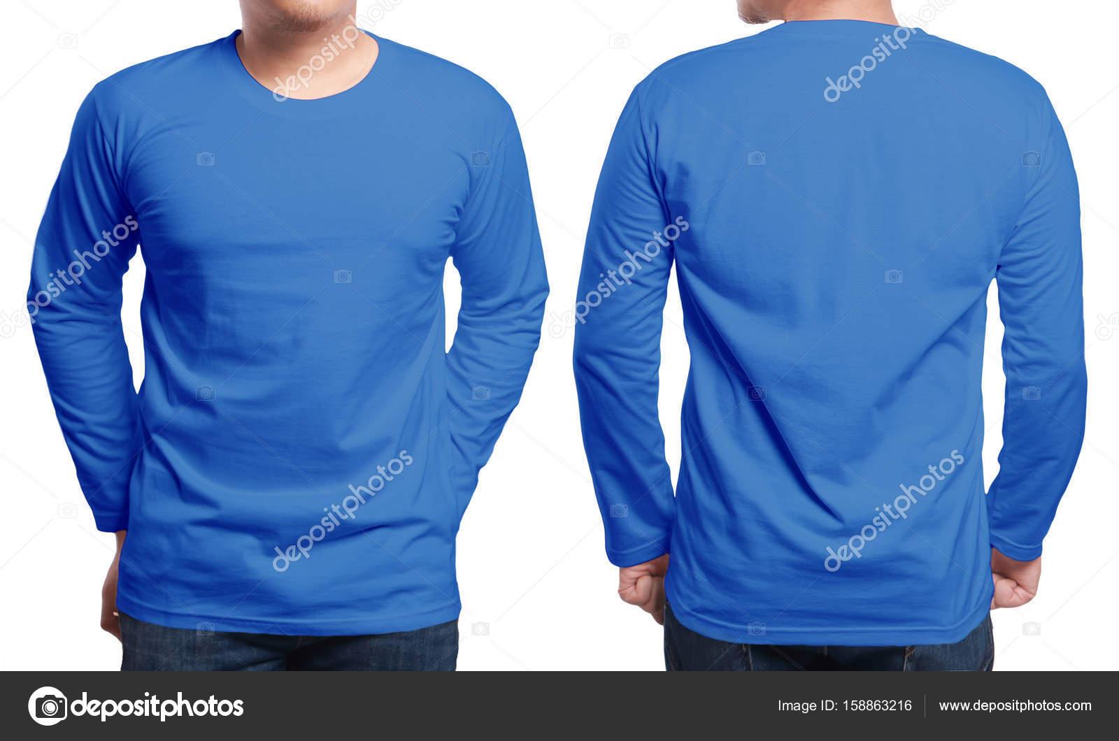 Blau Langarm Shirt-Design-Vorlage — Stockfoto © airdone #158863216