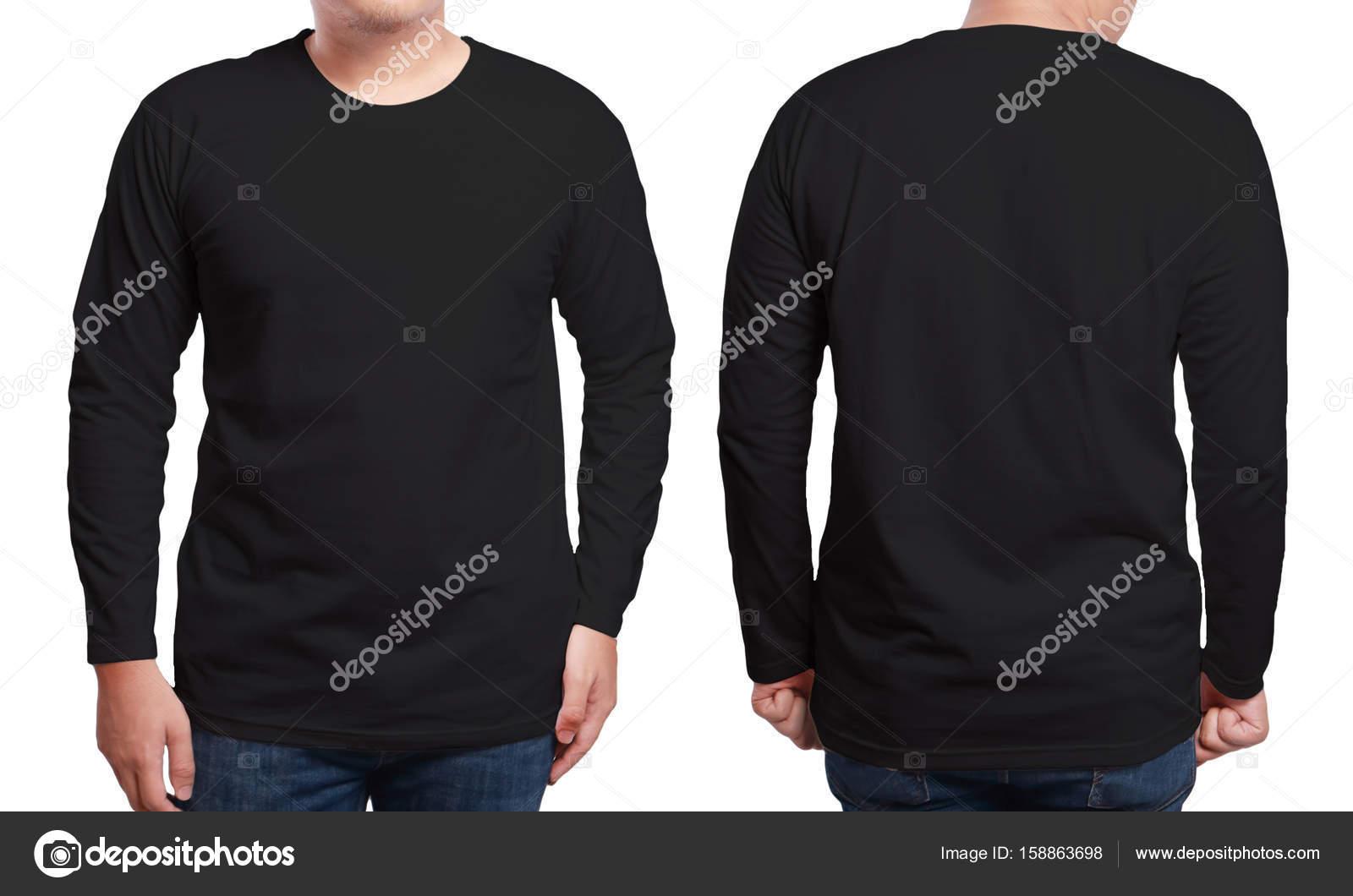 Black Long Sleeved Shirt Design Template — Stock Photo © airdone ...