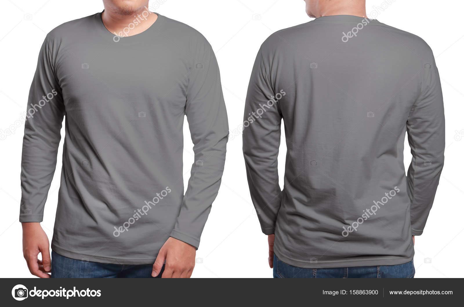Graue Langarm Shirt-Design-Vorlage — Stockfoto © airdone #158863900
